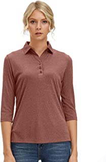 women's polo shirts long sleeve