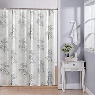Skymoving Shower Curtain Grey Trees Polyester Bathroom Curtain Waterproof 72 X 72 INCH