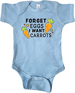 Inktastic Easter Forget Eggs I Want Carrots Infant Creeper