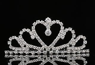 Best Lovelyshop Mini Heart Rhinestone Tiara for Wedding Bride Prom Birthday Pegeant Prinecess Party-1 Pack Review