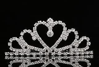 Lovelyshop Mini Heart Rhinestone Tiara for Wedding Bride Prom Birthday Pegeant Prinecess Party