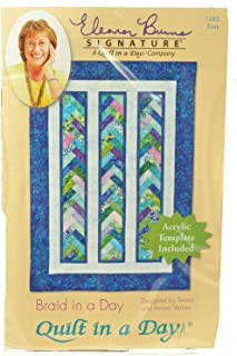 Braid in a Day, Quilt in a Day Pattern with acrylic template QD1282