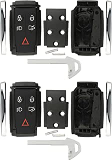 KeylessOption Keyless Entry Remote Smart Key Fob Case Shell Button Pad Outer Cover Rebuild Fix For Jaguar (Pack of 2)