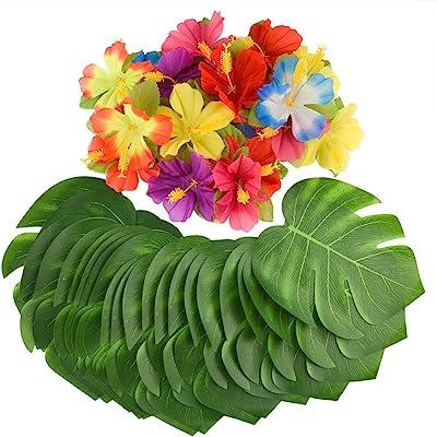 HAWAIIAN LUAU TROPICAL PARTY DECORATIONS BBQ SUMMER BEACH FLOWER DECOR ACCESSORY