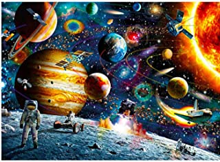 Adult Puzzle Classic Puzzle Game 1000 Piece Space Traveler Puzzles Paper Planets Spacecraft in Space Jigsaw Puzzle for Adu...