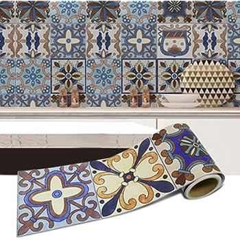 Vinilos Decorativos Impermeables Pegatinas de Vinilo con Auto-adhesivo de Azulejos Decorativos para Pared 8 PCS de 10cm // 15cm // 20cm 8pcs de 10x10cm Muebles de Cocina y Ba/ño
