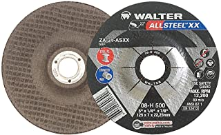 A-60-SS ZIP Grit 4-1//2 in Type 1 Pack of 25 Abrasive Wheel for Cutting Pipes Hard Surfaces Walter Surface Technologies Walter 11F042 ZIP Stainless Cutoff Wheel -