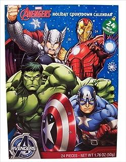 Advent Holiday Countdown Calendar with 24 Milk Chocolates (Marvel Avengers)