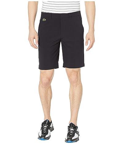 Lacoste Taffetas Solid Bermuda Shorts (Black) Men