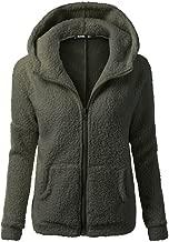 Womens Jacket Sale,KIKOY Winter Warm Wool Hooded Zipper Cotton Coats Outwear