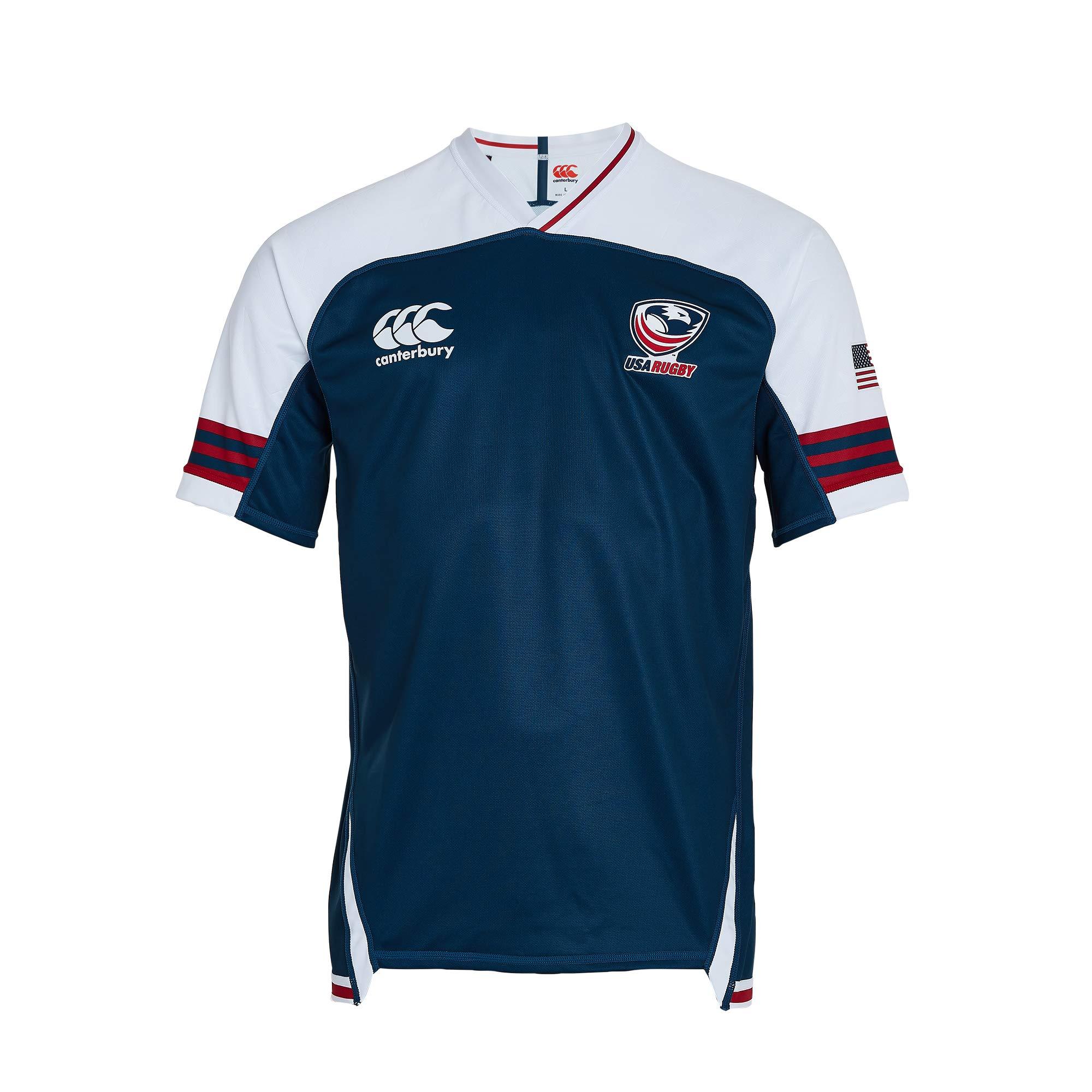 Canterbury USA Vapodri+ - Camiseta de Rugby de Manga Corta para Hombre, Hombre, Camiseta de Rugby, QB909634539, Azul Marino, 4XL: Amazon.es: Deportes y aire libre