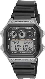 Casio Unisex Digital Dial Black Resin Band Watch [AE-1300WH-8A]