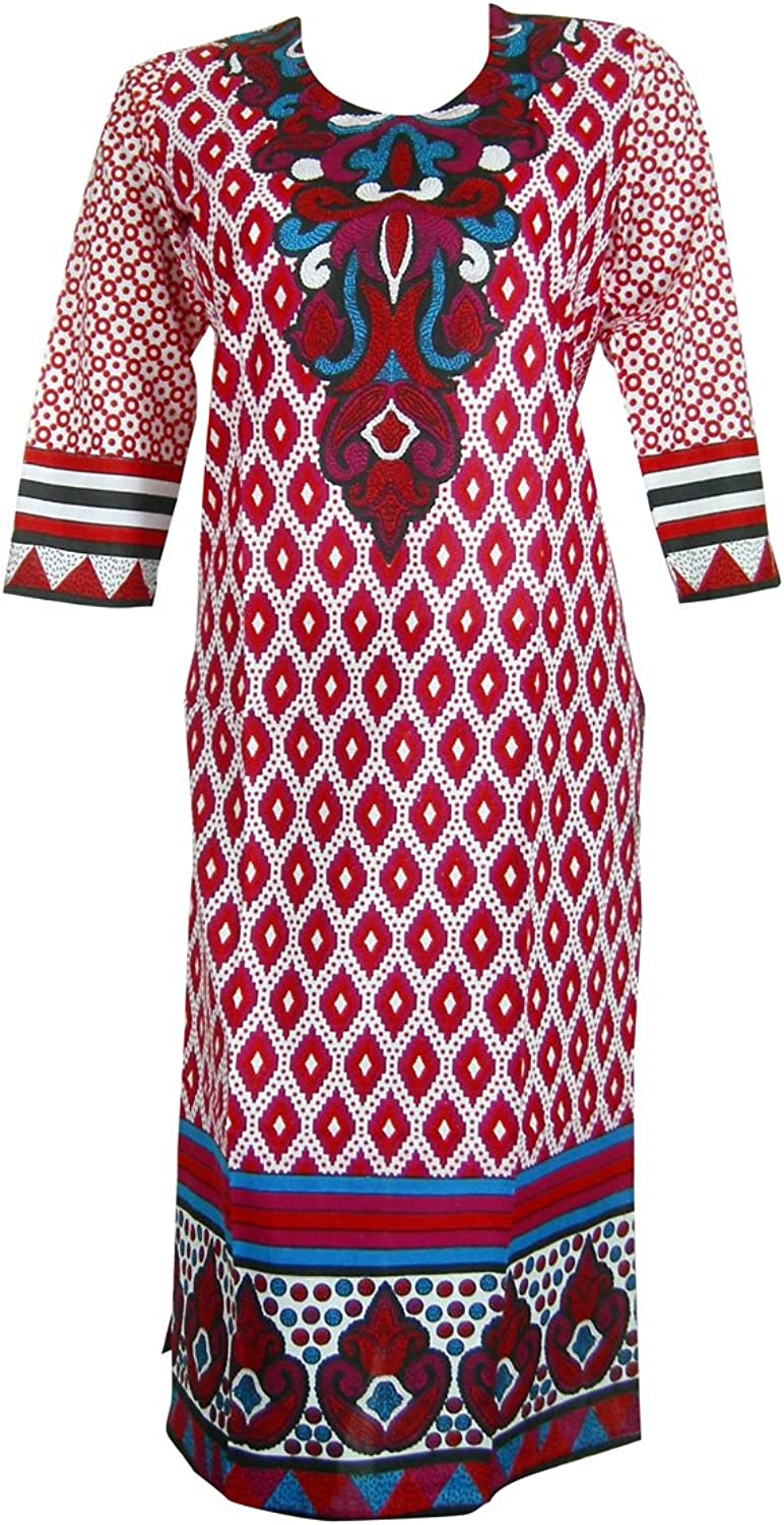Panini Impex Traditional Printed Long Tunic Top Indian Clothing