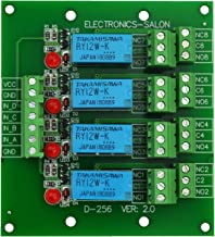 Electronics-Salon 4 DPDT Signal Relay Module Board, DC 12V Version, for Arduino Raspberry-Pi 8051 PIC.