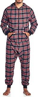 Ashford & Brooks Men's Flannel Hooded One Piece Pajama Union Jumpsuit