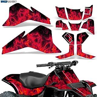 Suzuki LT80 87-06 Graphic Kit ATV Decals Sticker Quadsport LT 80 FLAMES RED