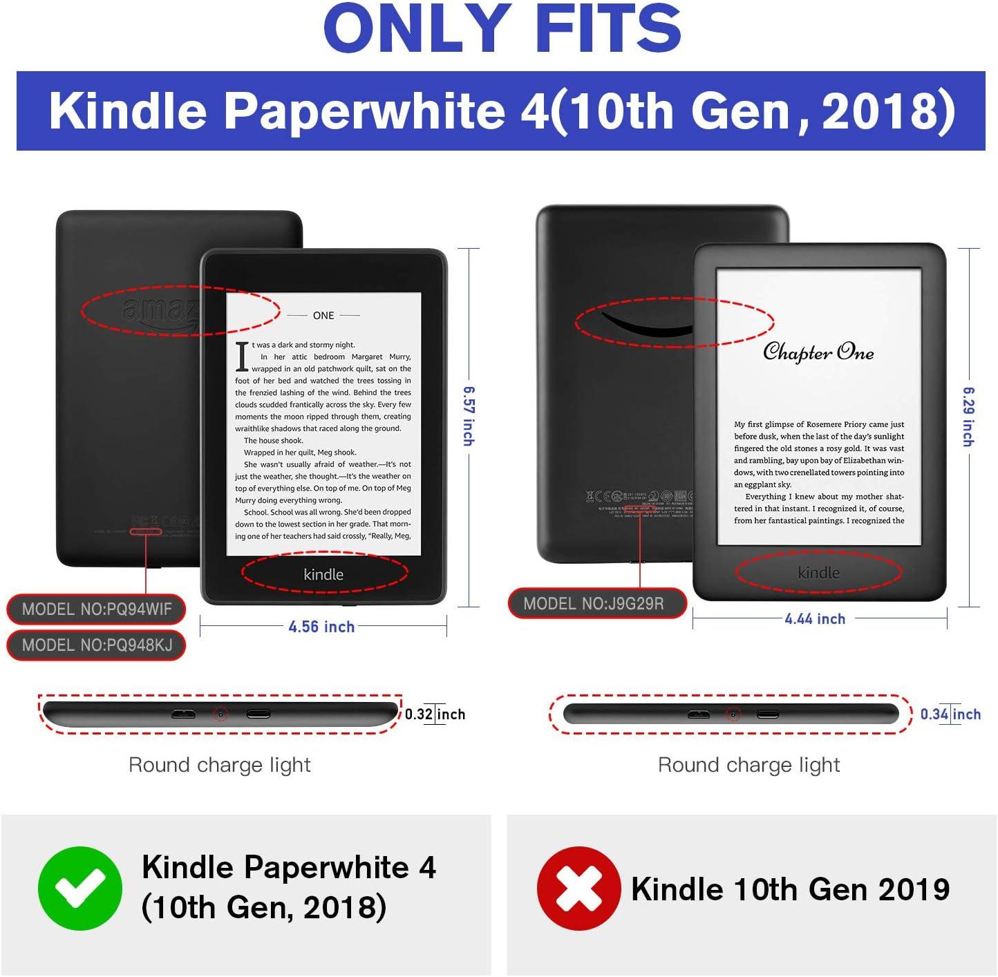 Funda de Cuero PU con Correa de Mano El Elefante con activaci/ón//suspensi/ón autom/ática Estuche Plegable OLAIKE Solo para Kindle Paperwhite 10th Generation 2018 lanzado