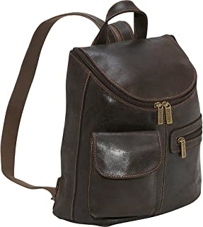 Distressed Leather Womens Backpack/Purse