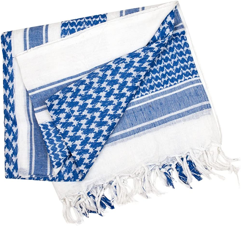Valken Max 44% OFF Denver Mall Shemagh Scarf Blue White -