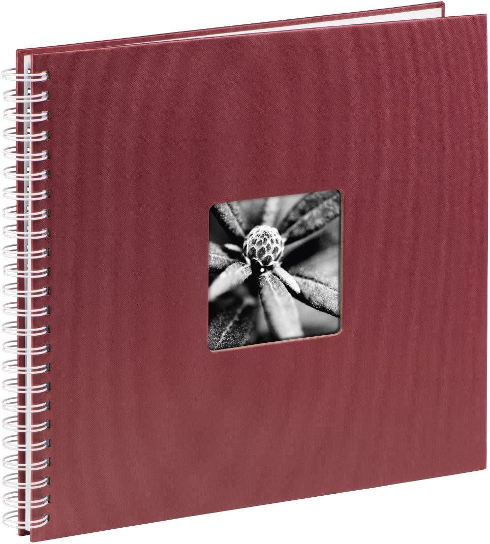 Hama 36x 32x 3cm Bordeaux Other Spiral Album Max 100% quality warranty! 58% OFF