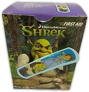 Shrek & Fiona Character Bandages - 100 3/4x3 Stat Strip Latex-Free Bandages