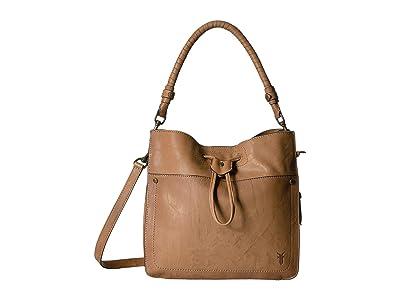 Frye Demi Hobo (Beige) Hobo Handbags