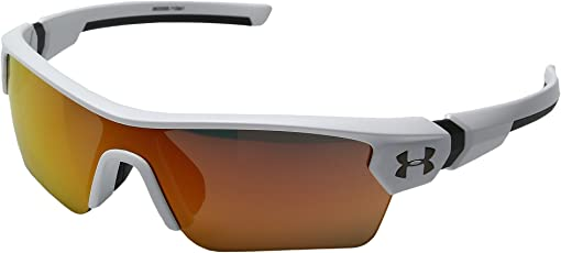 Satin White/Charcoal Frame/Gray/Orange Multiflection Lens