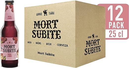 Mort Subite Cerveza - Caja de 12 Botellas x 250 ml - Total: 3 L: Amazon.es: Alimentación y bebidas