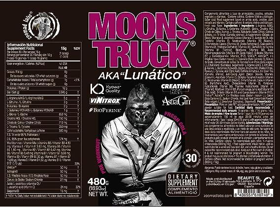 Moonstruck, Pre entreno, Pre training, Suplemento para deportistas, Pre entrenos potentes, Creatina HCL, Beta Alanina, Cafeína, Citrulina y Vitamina ...