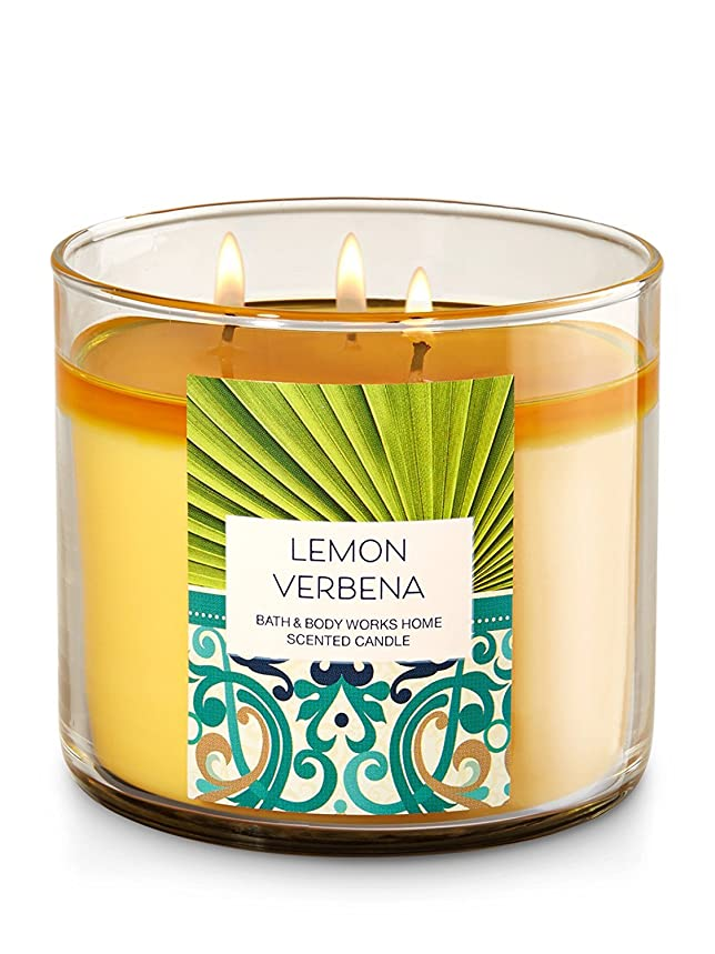 ママ人に関する限りなめるBath & Body Works Lemon Verbena 3?Wick Candle?–?14.5oz Fall 2016