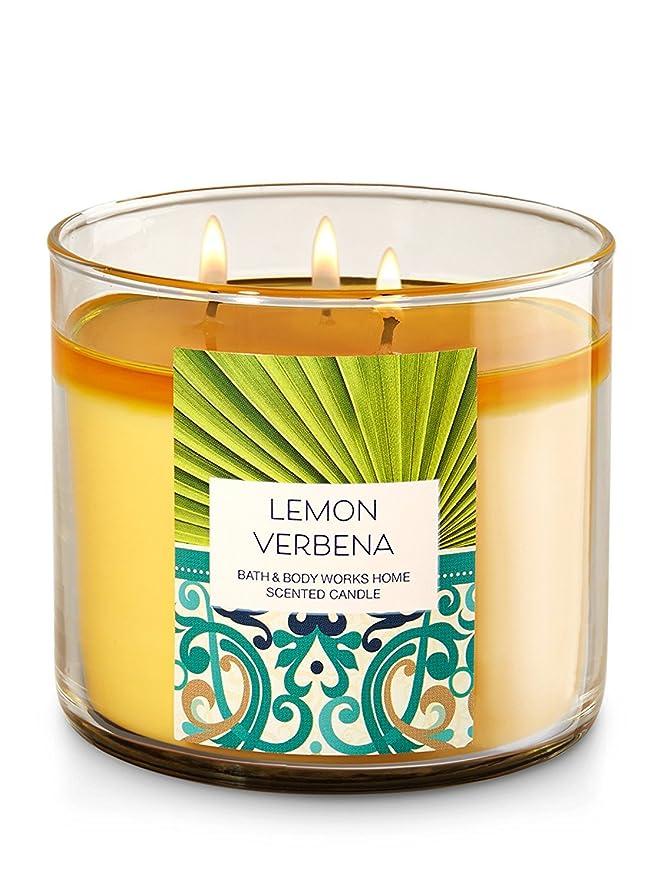 モトリー私たち自身コウモリBath & Body Works Lemon Verbena 3?Wick Candle?–?14.5oz Fall 2016