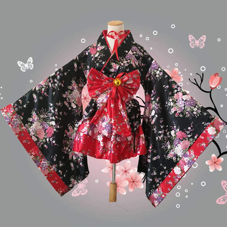 Red Dress Short Sleeved Dress,Party Dress Kimono Dress Summer Red Dress Floral Dress Plus Size Clothing Japanese Clothing Short Dress