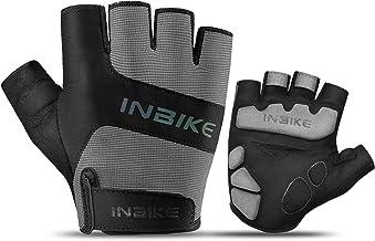 INBIKE 3MM EVA Pad Breathable Fingerless Cycling Gloves Reflective Lightweight Biking Gloves for Men Women