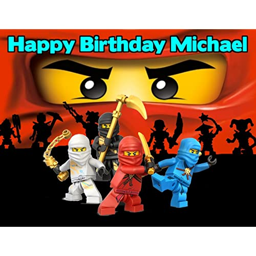 Ninjago Lego Ninja Edible Image Photo Cake Frosting Icing Topper Sheet Personalized Custom Customized Birthday Party