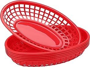 """Deli Baskets for Food Serving, Eusoar 6Pcs 9.4"""" x 5.9"""" Fast Food Baskets, Fry Tray, Bread Baskets, Serving Tray for Fast F..."""