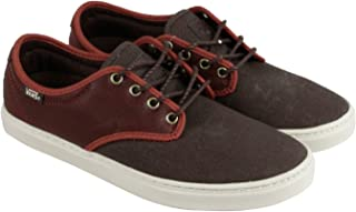 Vans Ludlow + Mens Brown Leather/Canvas Lace Up Sneakers Shoes 7