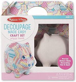 Melissa & Doug Decoupage Made Easy - Piggy Bank