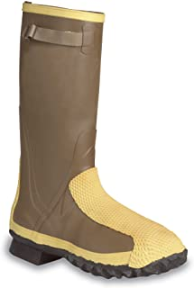"""Ranger Flex-Guard Safety Pac 16"""" Heavy Duty Men's Rubber Metatarsal Boots with Steel Toe and Steel Midsole, Olive/Yellow & Black (2169)"""