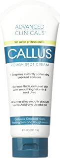 Advanced Clinicals Callus Cream. Best Foot Cream for callus and rough spots. For Rough Dry Skin on Feet, Hands, Elbows. (8oz)