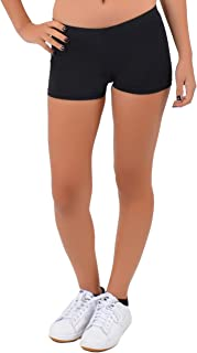 Girl's and Women's Nylon Spandex Stretch Booty Shorts