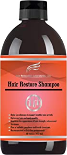 2019 HAIR RESTORATION LABORATORIES' HAIR RESTORE DHT BLOCKING HAIR LOSS SHAMPOO. THE MOST EFFECTIVE DAILY USE SHAMPOO TO PREVENT HAIR LOSS AND TO PROMOTE HAIR GROWTH. FOR MEN AND WOMEN.