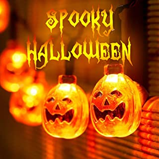 Isagax Halloween Decorations String Lights, SOOTA 20 Pumpkin String Lights Battery Operated LED Fairy Lights Powered by 3pcs AA Batteries for DIY Halloween Decoration (Pumpkin)
