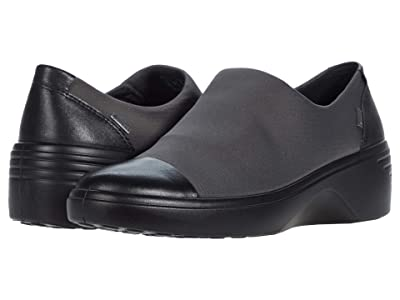 ECCO Soft 7 Wedge GTX Slip-On (Black/Magnet) Women
