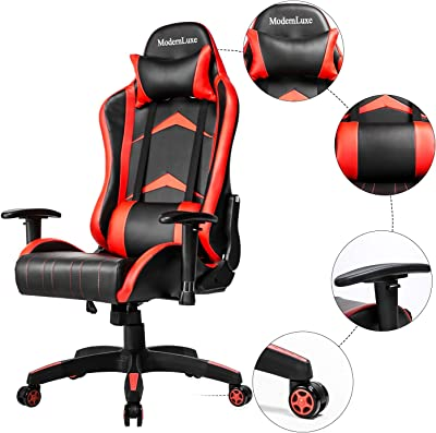 Gaming Chair Ergonomic Office Recliner for Computer Executive Office Chair, Racing Style Adjustable Armchair PU