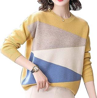 FOGUO Suéter De Mujer Camiseta Cálida De Otoño E Invierno Suéter De Cuello Redondo De Tela Agradable para La Piel Manga La...