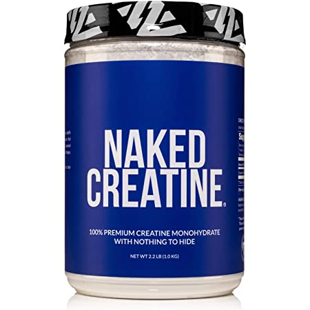 Pure Creatine Monohydrate – 200 Servings - 1,000 Grams, 2.2lb Bulk, Vegan, Non-GMO, Gluten Free, Soy Free. Aid Strength Gains, No Artificial Ingredients - NAKED CREATINE
