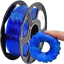 YOYI 3D Printer Filament,TPU Flexible Filament 1.75mm 0.8kg Spool Dimensional Accuracy +/- 0.03 mm,100% Europe Raw Material (Blue)
