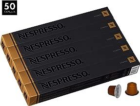Nespresso Livanto OriginalLine Capsules, 50 Count Espresso Pods, Medium Roast Intensity 6 Blend, Costa Rican & Colombian Arabica Coffee Flavors