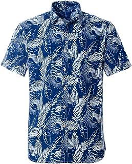 Camisa Hawaiana para Hombre de algodón Puro de Verano de Manga Corta Impresa Suelta de Gran tamaño Hawaii Flower Men Beach...