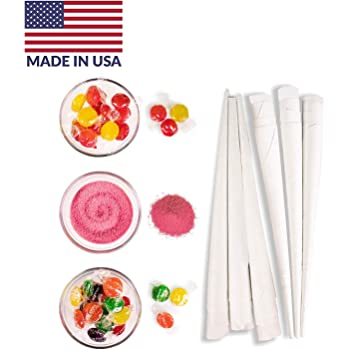 Nostalgia HCK800 Hard & Sugar-Free Candy Cotton Candy Party Kit, 60 Candies, Floss Sugar, 24 Cones